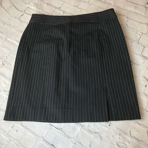 Banana Republic Pin Striped Slit Skirt Size 8